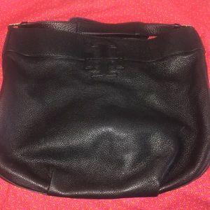 Tory Burch black leather Hobo bag